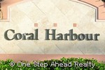 Coral Harbour community sign
